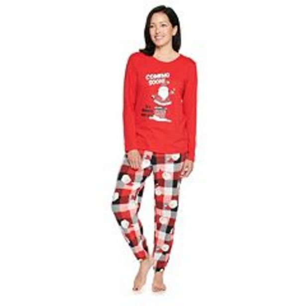 Women's Jammies For Your Families® Santa Coming Soon Plaid Pajama Set deals at $29.4