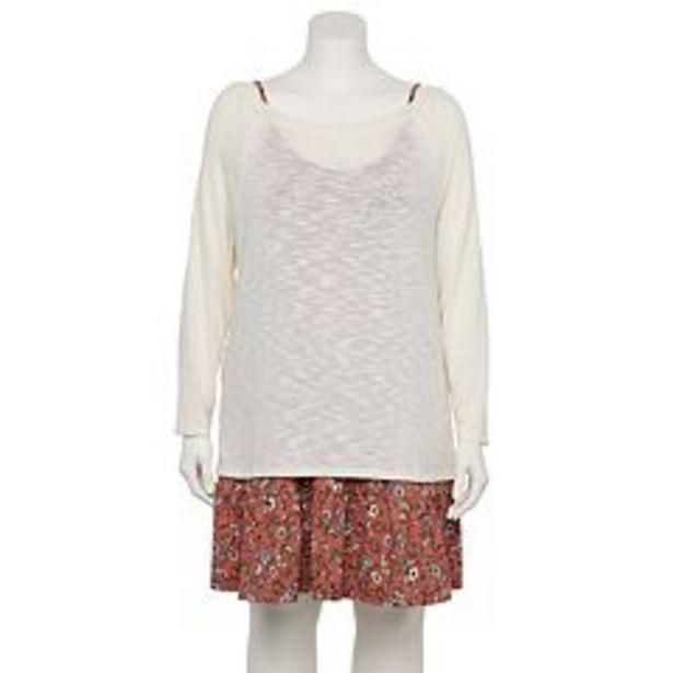 Juniors' WallFlower Slubbed Hacci Tunic Topper & Dress Set deals at $34.99