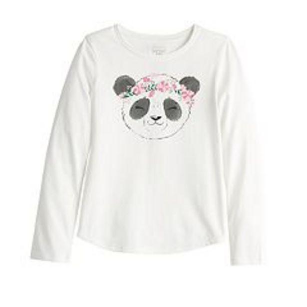 Girls 4-12 Jumping Beans® Long-Sleeve Basic Shirttail Tee deals at $7.99