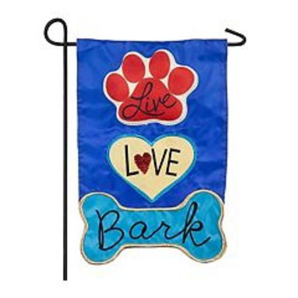 Live, Love, Bark Garden Flag deals at $5.99