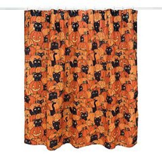Celebrate Halloween Together Pumpkin & Cat Shower Curtain deals at $24.49
