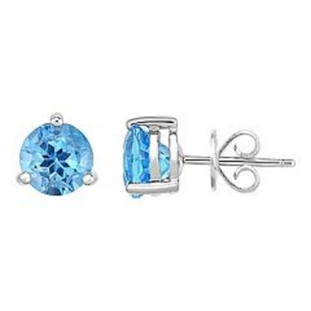 Sterling Silver Blue Topaz Stud Earrings deals at $29.99