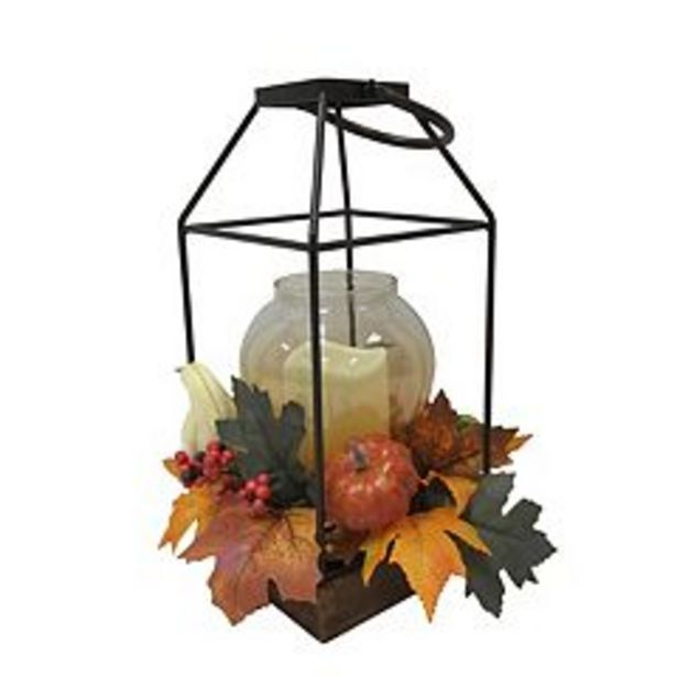 Celebrate Fall Together LED Artificial Leaf Pumpkin Lantern Floor Decor deals at $41.99
