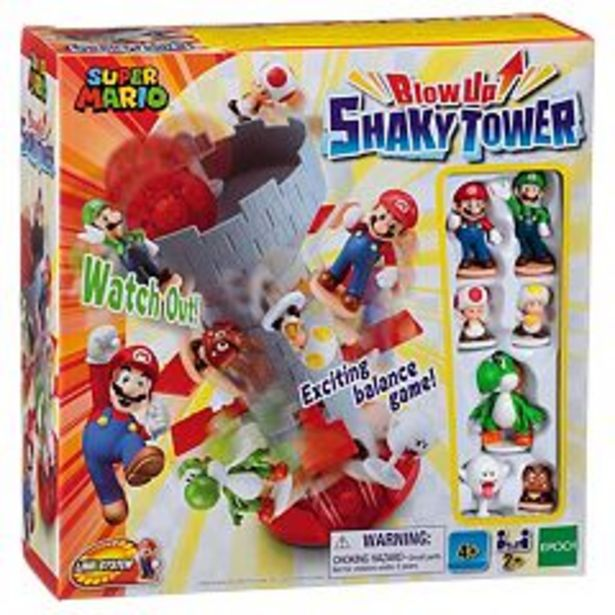 Epoch Games Super Mario Blow Up Shaky Tower Game deals at $19.99