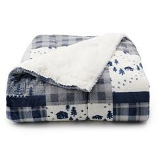 Cuddl Duds® Cozy Soft Plush to Faux Fur Throw deals at $19.99