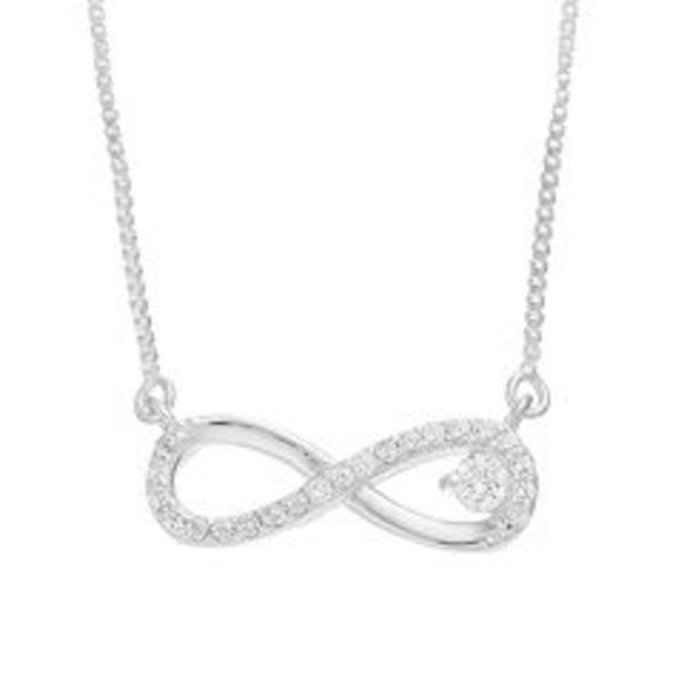 Timeless Sterling Silver Cubic Zirconia Infinity Necklace deals at $29.99