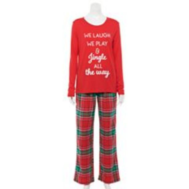Women's Jammies For Your Families® Jingle All The Way Top & Pants Pajama Set deals at $4.2