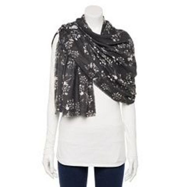 Women's LC Lauren Conrad Ethereal Floral Softy Wrap Scarf deals at $19.2