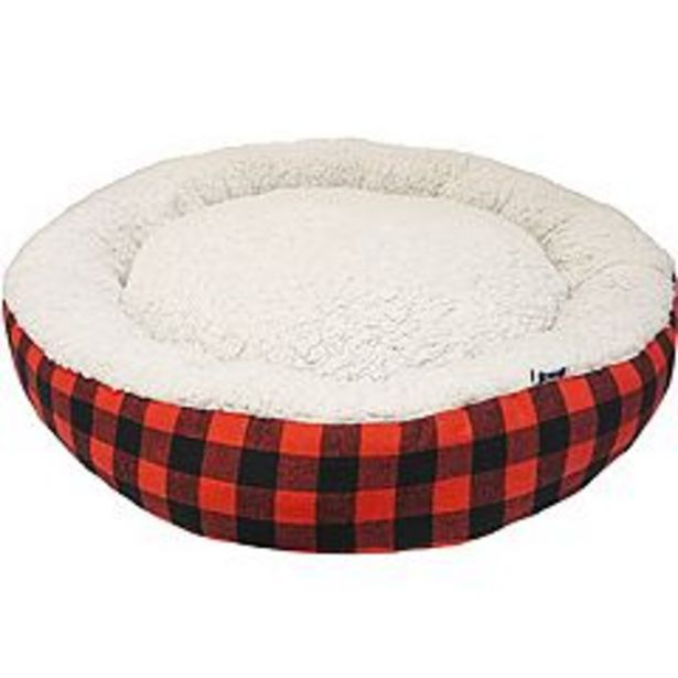 Woof Buffalo Check Round Pet Bed deals at $41.99