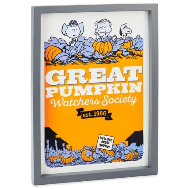 Peanuts® Great Pumpkin Watchers Society Framed … deals at $24.99