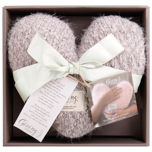 Taupe Giving Heart Pillow deals at $34.99