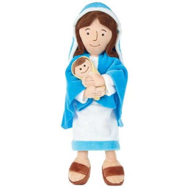 Mother Mary Holding Baby Jesus Stuffed Doll, 12… deals at $14.99