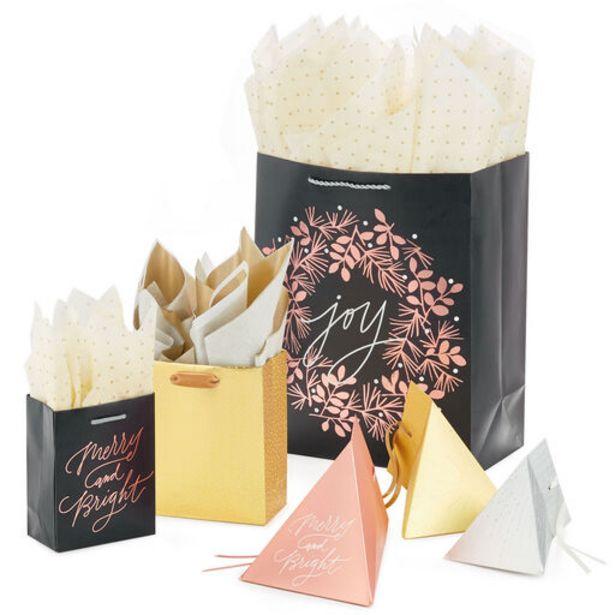 Mixed Metallics Holiday Gift Bag Collection deals at $1.99