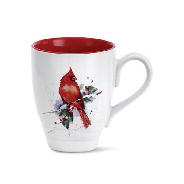 Demdaco Cardinal and Holly Mug, 16 oz. deals at $16.99