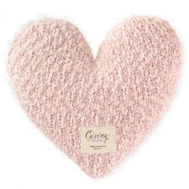 Dusty Pink Giving Heart Pillow deals at $34.99