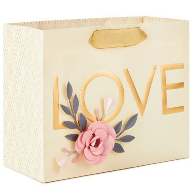 """7.7"""" Love With Flowers Horizontal Gift Bag deals at $4.49"""