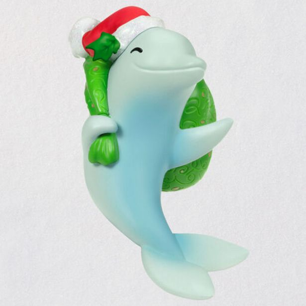 Here Comes Dolphin Claus Musical Ornament deals at $19.99