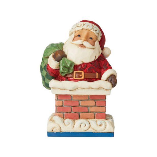 Jim Shore Santa in Chimney Mini Figurine, 3.875… deals at $24.99