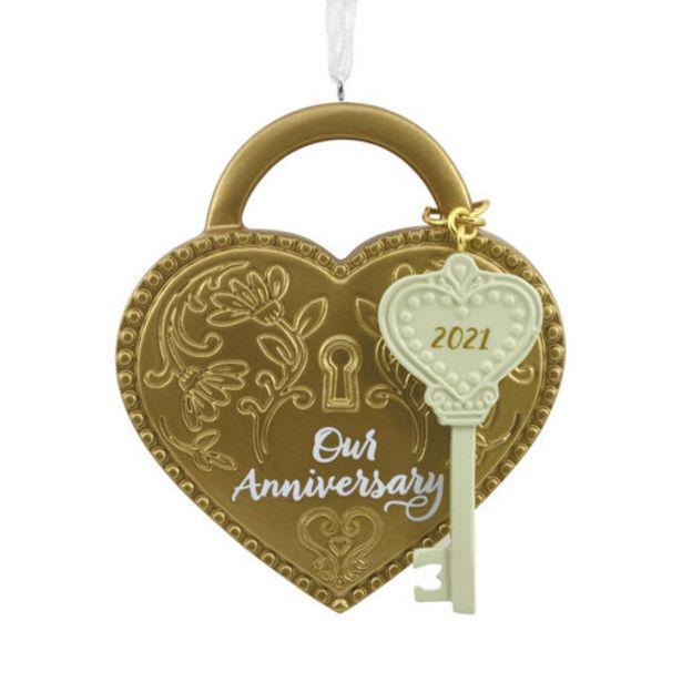 Our Anniversary Love Lock 2021 Hallmark Ornamen… deals at $11.99