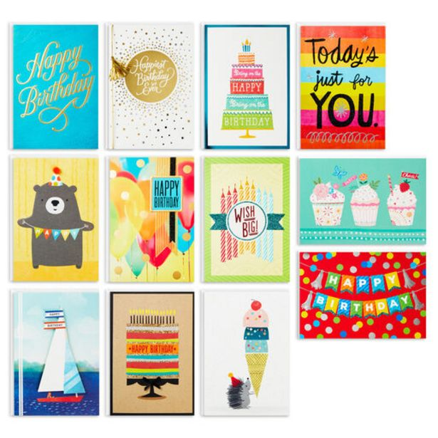 Bright and Happy Assorted Birthday Cards, Box o… deals at $12.99