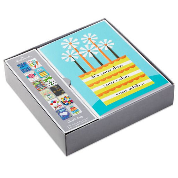 Premium Assorted Birthday Cards, Box of 12 deals at $11.99