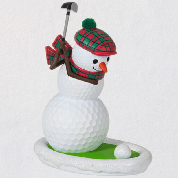 Golfing in the Snow Golf Ball Snowman Ornament deals at $17.99