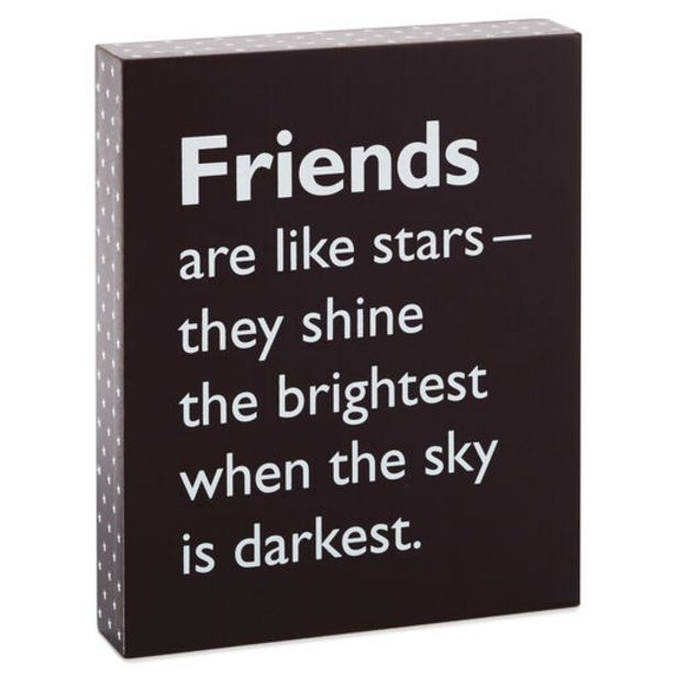 Friends Are Like Stars Wooden Quote Sign, 6x7.2… deals at $14.99
