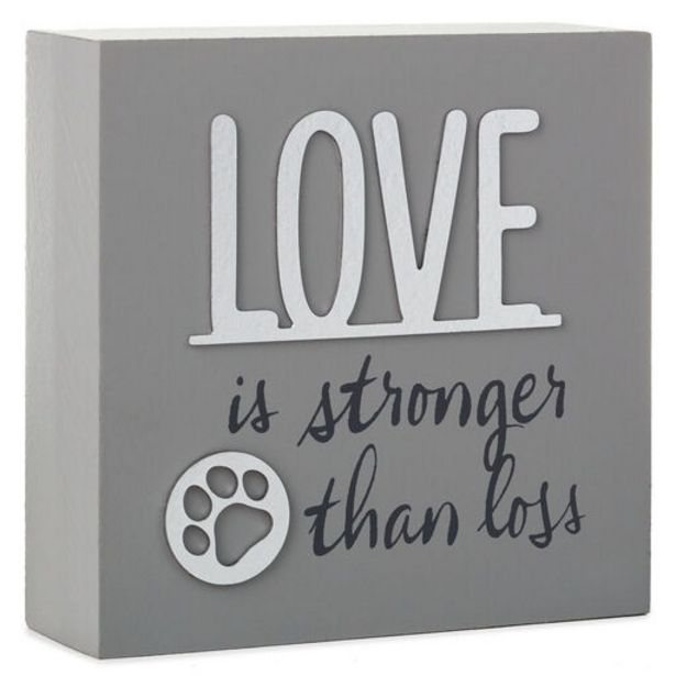 Love Is Stronger Than Loss Pet Memorial Wood Qu… deals at $9.99