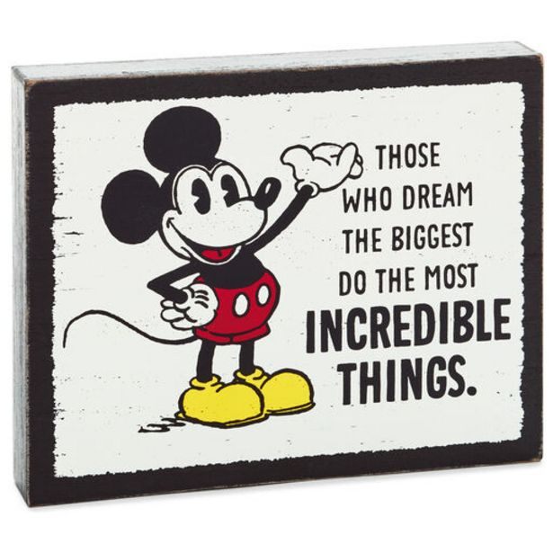 Disney Mickey Mouse Incredible Things Wood Quot… deals at $12.99