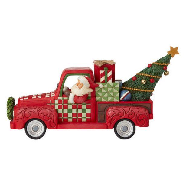 "Jim Shore Santa in Red Truck Figurine, 6.8"" deals at $89.99"