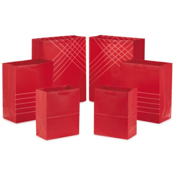 Red Assorted Sizes 6-Pack Gift Bags deals at $14.49