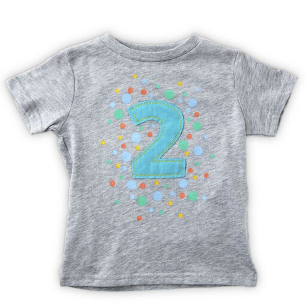 Gray Second Birthday T-Shirt, 2T deals at $19.99