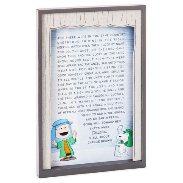 Peanuts® Linus Nativity Speech Framed Wood Quot… deals at $29.99