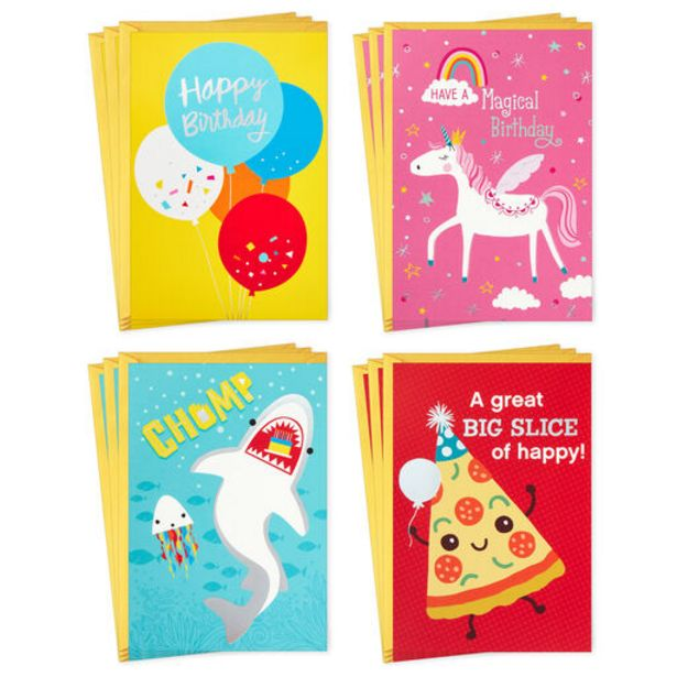 Colorful Assorted Kids' Birthday Cards, Pack of… deals at $7.99