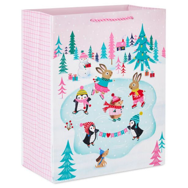 """13"""" Ice-Skating Animals on Pink Large Christmas… deals at $3.99"""