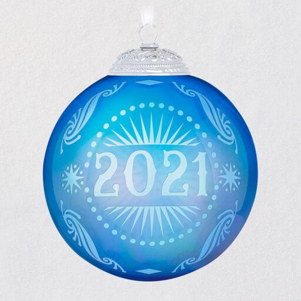 2021 Christmas Commemorative Glass Ball Ornamen… deals at $21.99